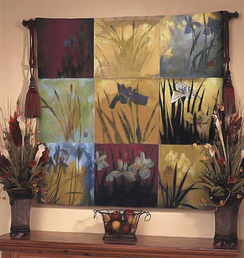 Wall Tapestries   Iris Nine Patch II   Don Li-Leger