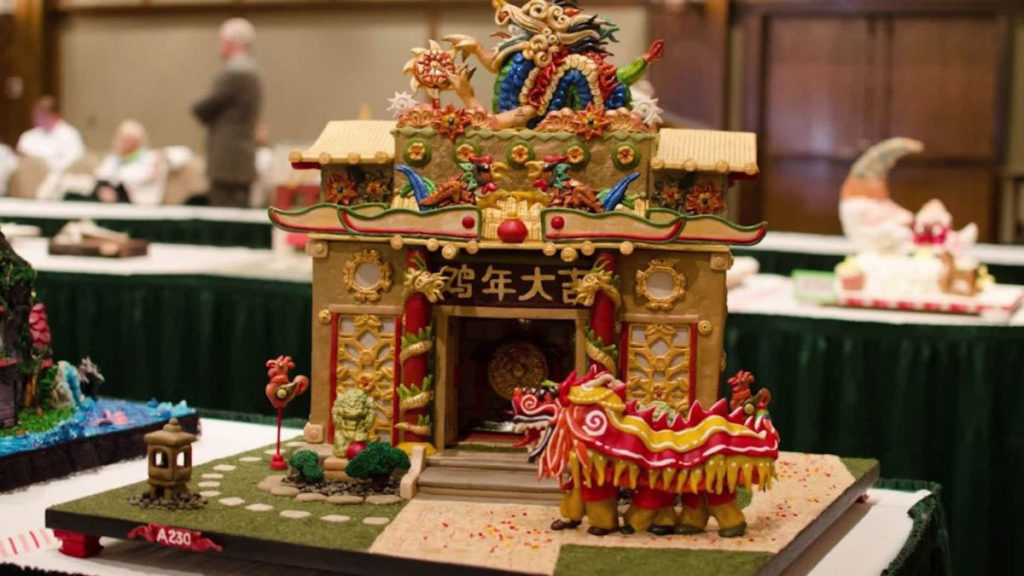 Chinese Temple Gingerbread
