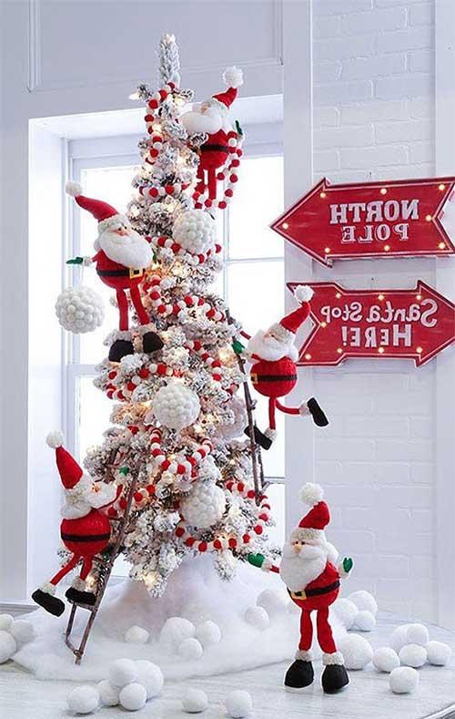 Climbing Santa Tree