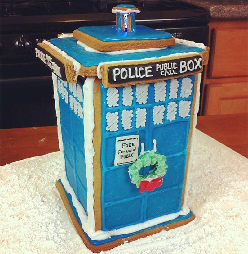 Dr. Who's Gingerbread Tardis