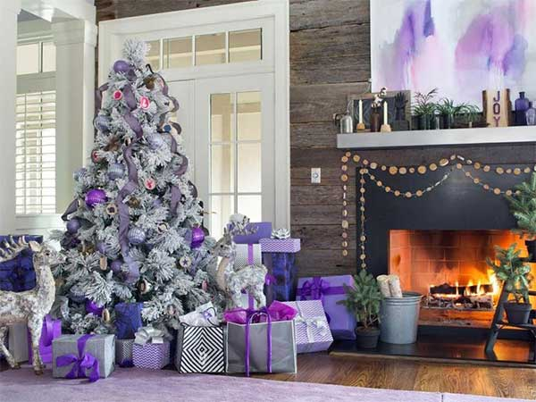 A Lavender Christmas Tree