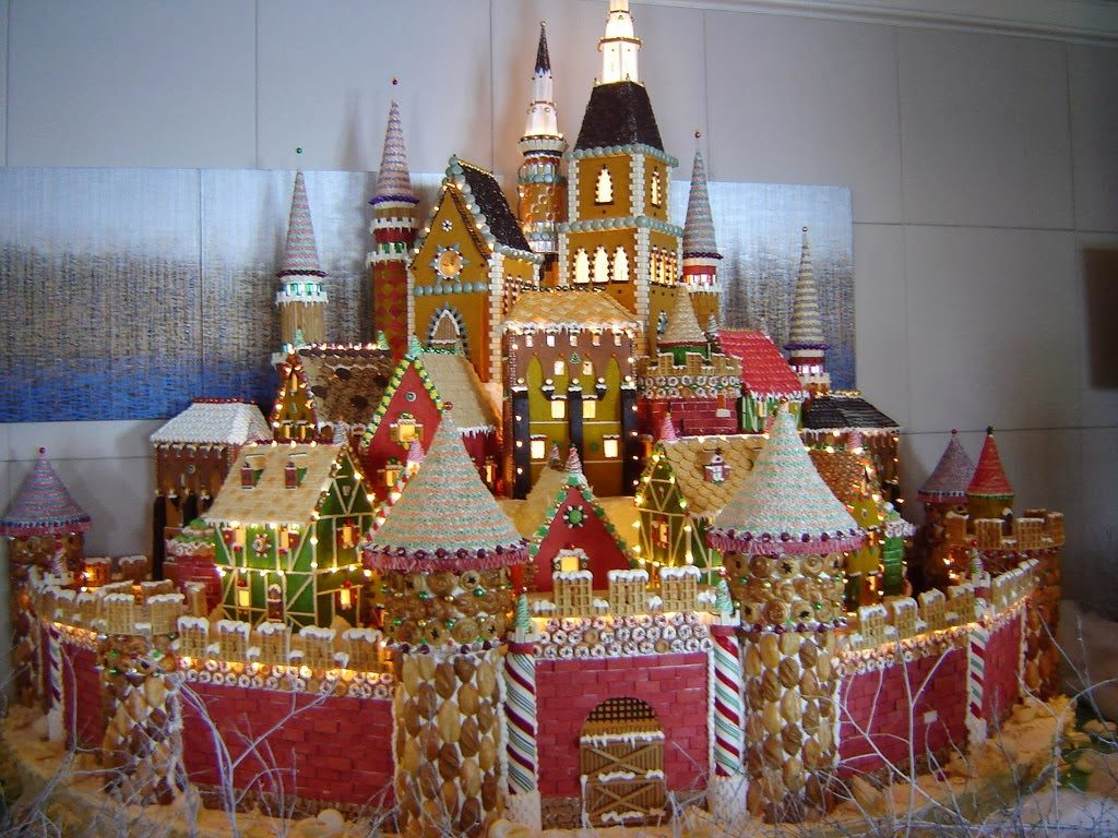 Medieval Gingerbread Village