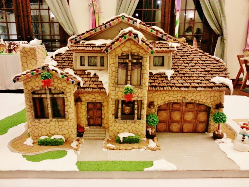 Classic Mid-Century Stone Gingerbread House