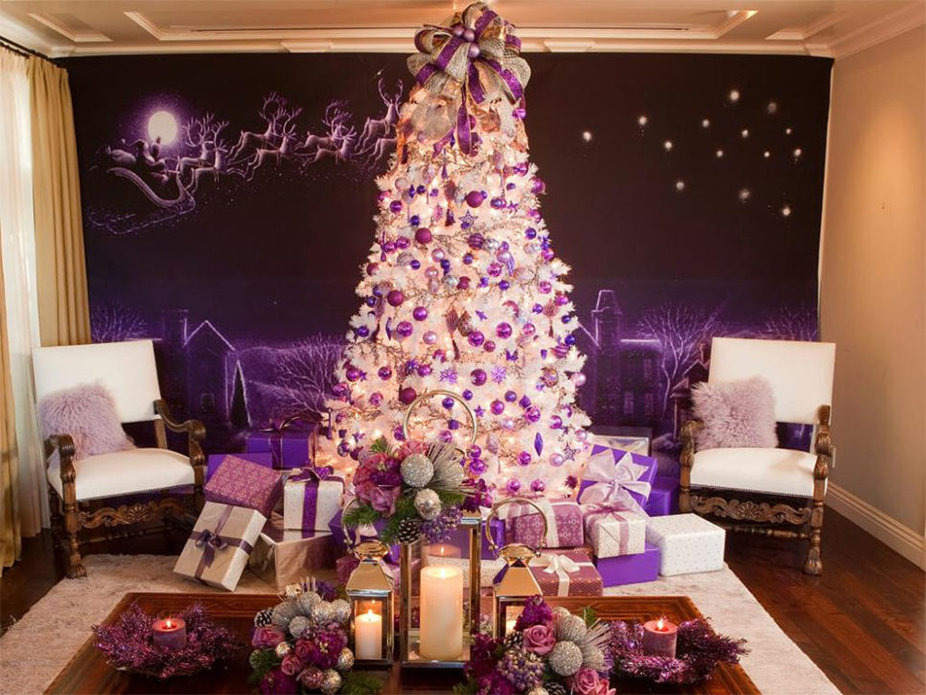 Purple & White Christmas Tree