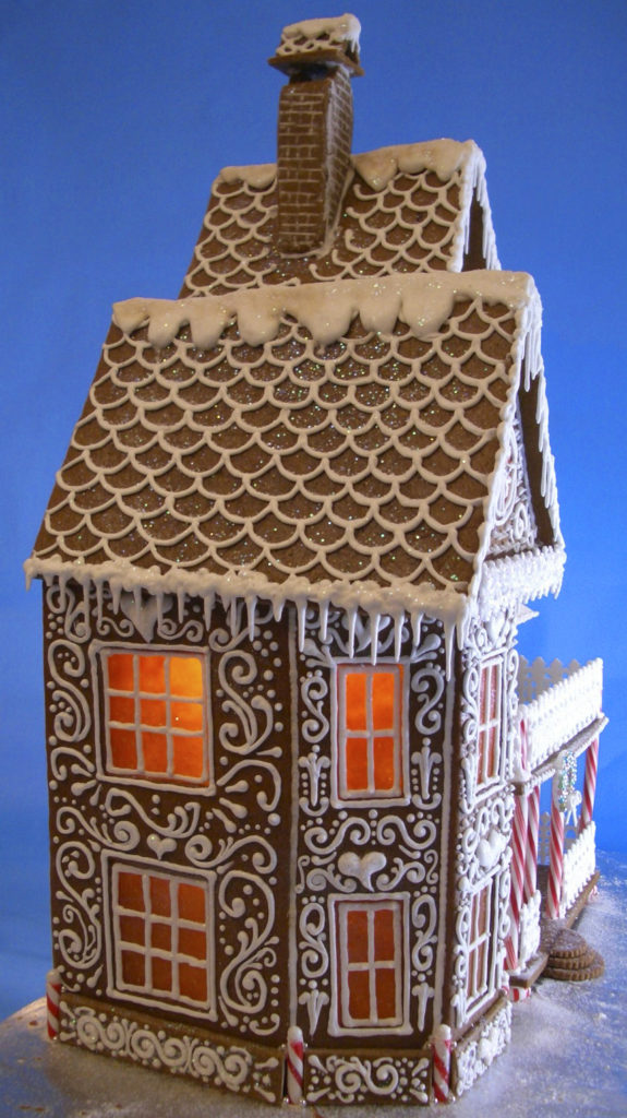 Quaint Victorian Gingerbread House