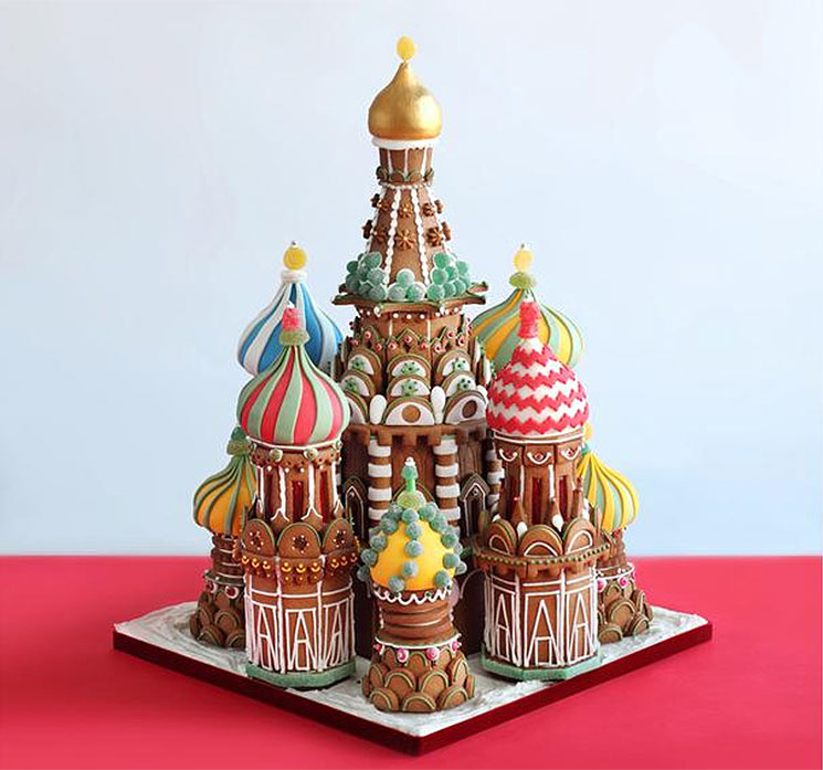 St. Basil's Basilica Gingerbread Cathedral