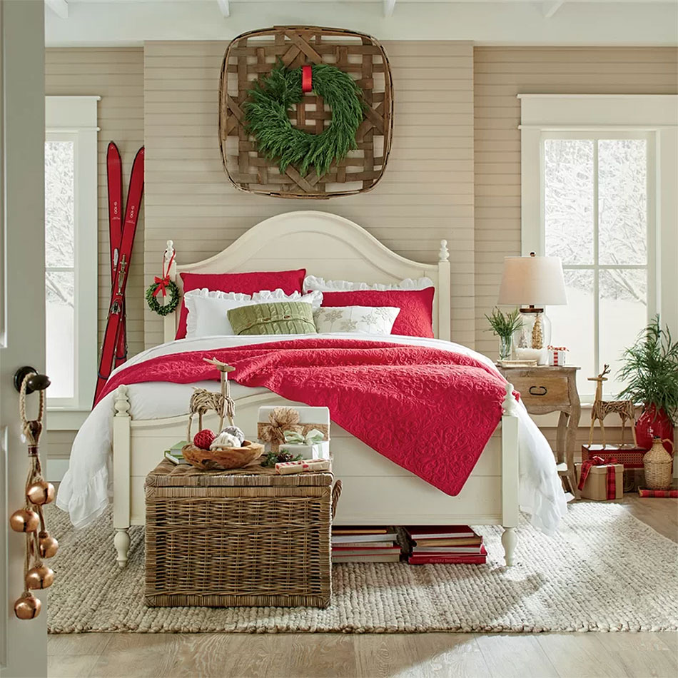 A Christmas Ski Chalet Bedroom