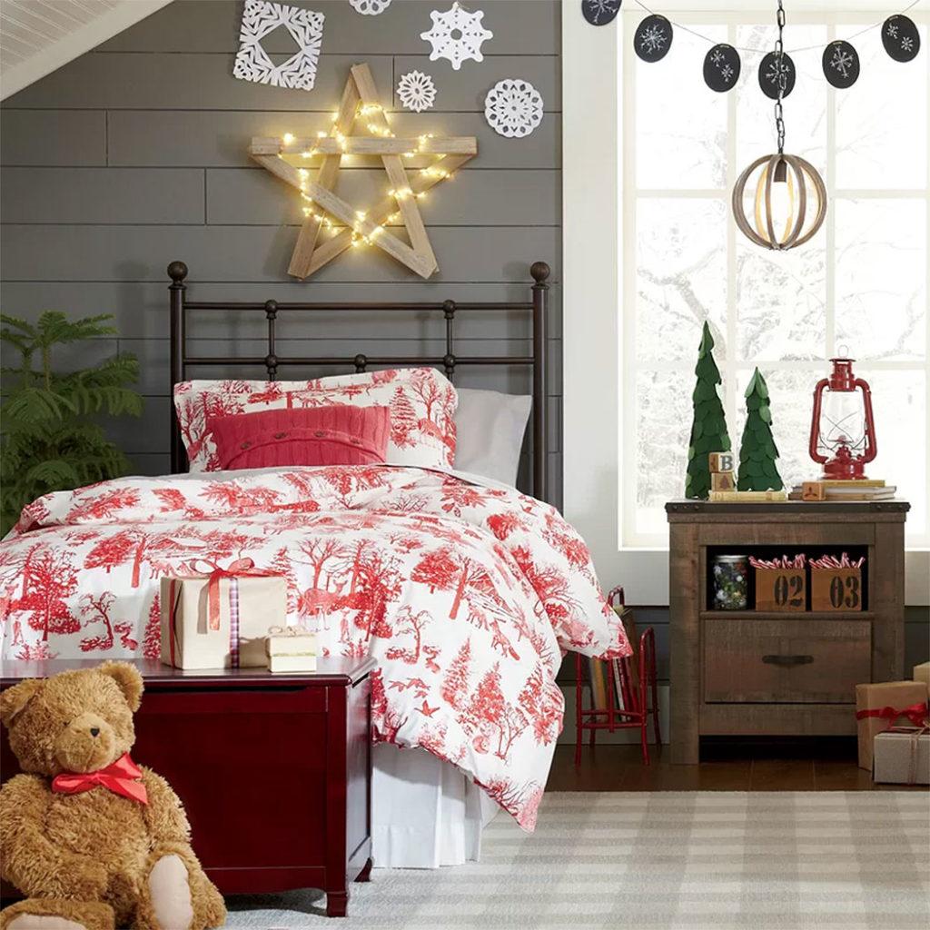 Kids Christmas Bedroom Decor
