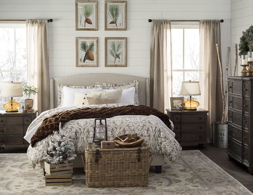 Subdued Christmas Bedroom