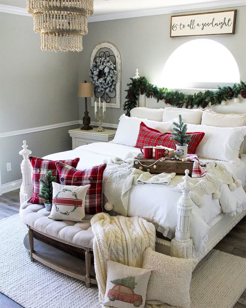 Wintry White Christmas Bedroom