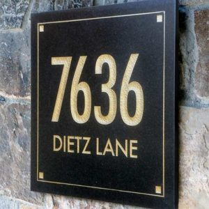 Clarus Crystal 2-Line Wall Address Plaque