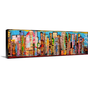 City Life by Erin Ashley Art Print on Canvas