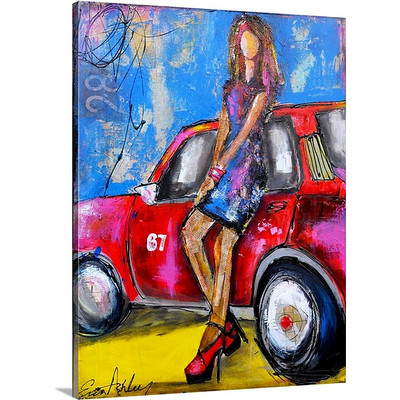 Hot Rod Sister by Erin Ashley Art Print on Canvas