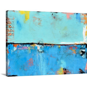 Matchbox Blue 101 by Erin Ashley Art Print on Canvas