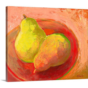 Two Pears in Repose by Jennifer Lommers Art Print on Canvas