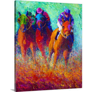 Thundering Hooves by Marion Rose Art Print on Canvas