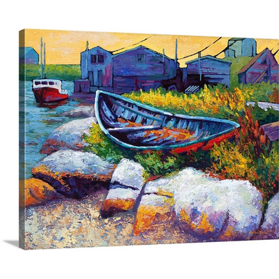 Judy East Coast Boat by Marion Rose Art Print on Canvas
