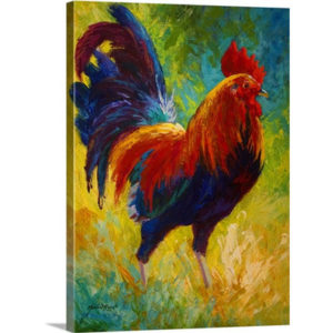 Hot Shot Rooster by Marion Rose Art Print on Canvas