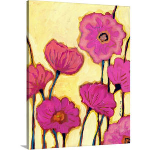 Flowers for Coralyn by Jennifer Lommers Art Print on Canvas
