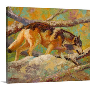 Prowler Wolf by Marion Rose Art Print on Canvas