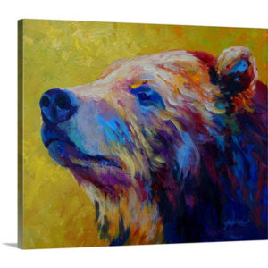 Pretty Boy Grizz by Marion Rose Art Print on Canvas
