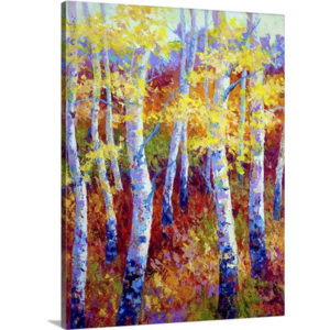 Autumn Gold by Marion Rose Art Print on Canvas