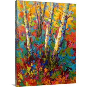 Abstract Autumn II by Marion Rose Art Print on Canvas