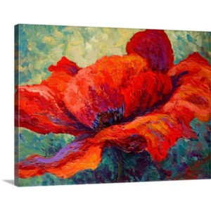 Red Poppy III by Marion Rose Art Print on Canvas