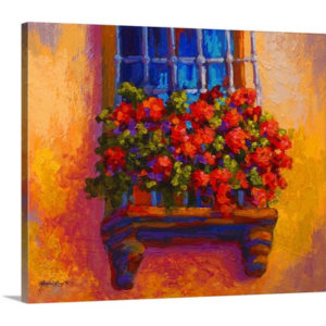 Window Box by Marion Rose Art Print on Canvas