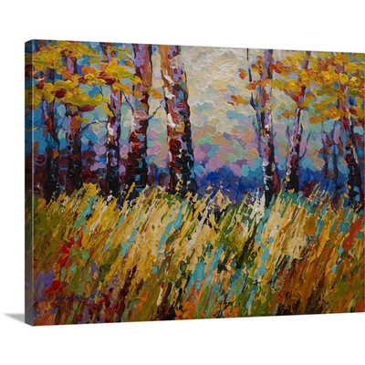 Abstract Autumn by Marion Rose Art Print on Canvas