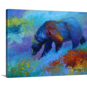 Denali Grizzly by Marion Rose Art Print on Canvas