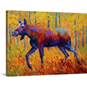 Cow Moose by Marion Rose Painting on Canvas