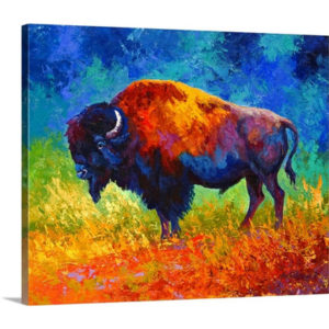 Master Bison by Marion Rose Art Print on Canvas