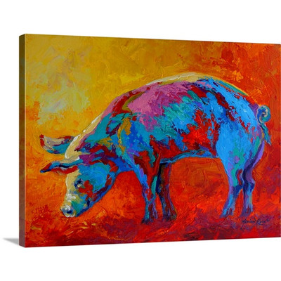 Good Pig by Marion Rose Art Print on Canvas