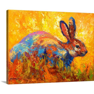Forest Rabbit II by Marion Rose Art Print on Canvas