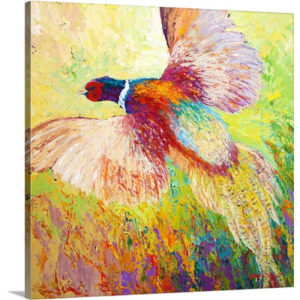 Flushed Pheasant by Marion Rose Art Print on Canvas