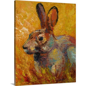 Forest Rabbit III by Marion Rose Art Print on Canvas