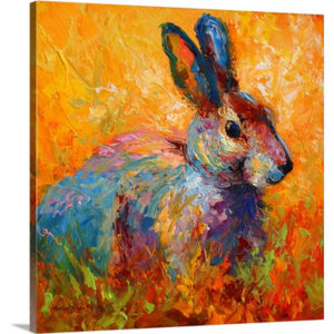Forest Bunny by Marion Rose Art Print on Canvas
