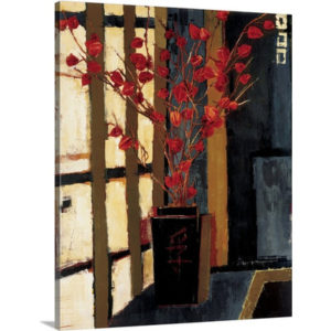 Japanese Lanterns by Liz Jardine Painting Print on Canvas