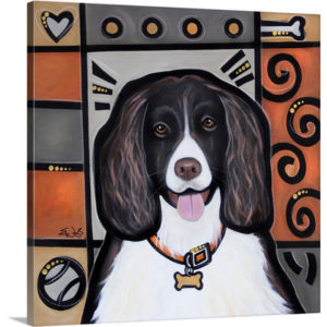 English Springer Spaniel Pop Art by Eric Waugh Painting Print on Canvas