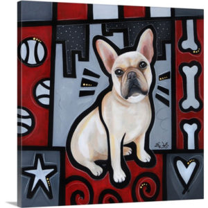 French Bulldog Pop Art by Eric Waugh Art Print on Canvas