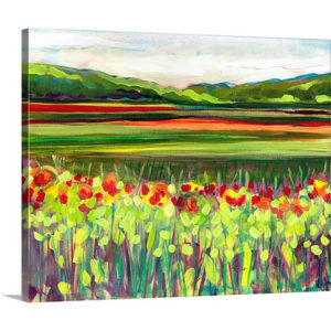 Wildflower Meadow by Jennifer Lommers Painting Print on Canvas