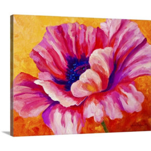 Pink Poppy by Marion Rose Art Print on Canvas