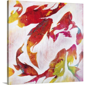 Koi Pond by Liz Jardine Painting Print on Canvas