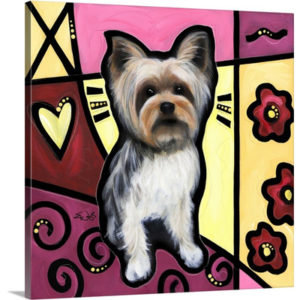 Yorkshire Terrier Pop Art by Eric Waugh Art Print on Canvas