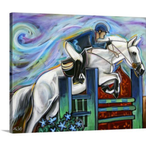 Show Jumper by Eric Waugh Painting Print on Canvas