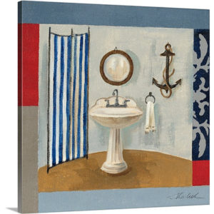 Nautical Bath I by Silvia Vassileva Art Print on Canvas
