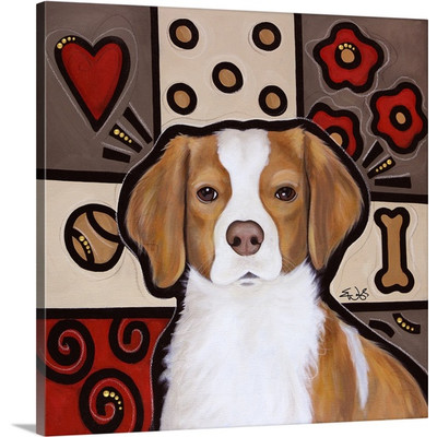 Brittany Pop Art by Eric Waugh Painting Print on Canvas