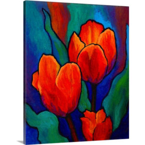 Tulips by Marion Rose Art Print on Canvas