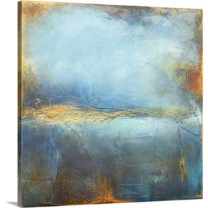 Deep Blue by Erin Ashley Art Print on Canvas